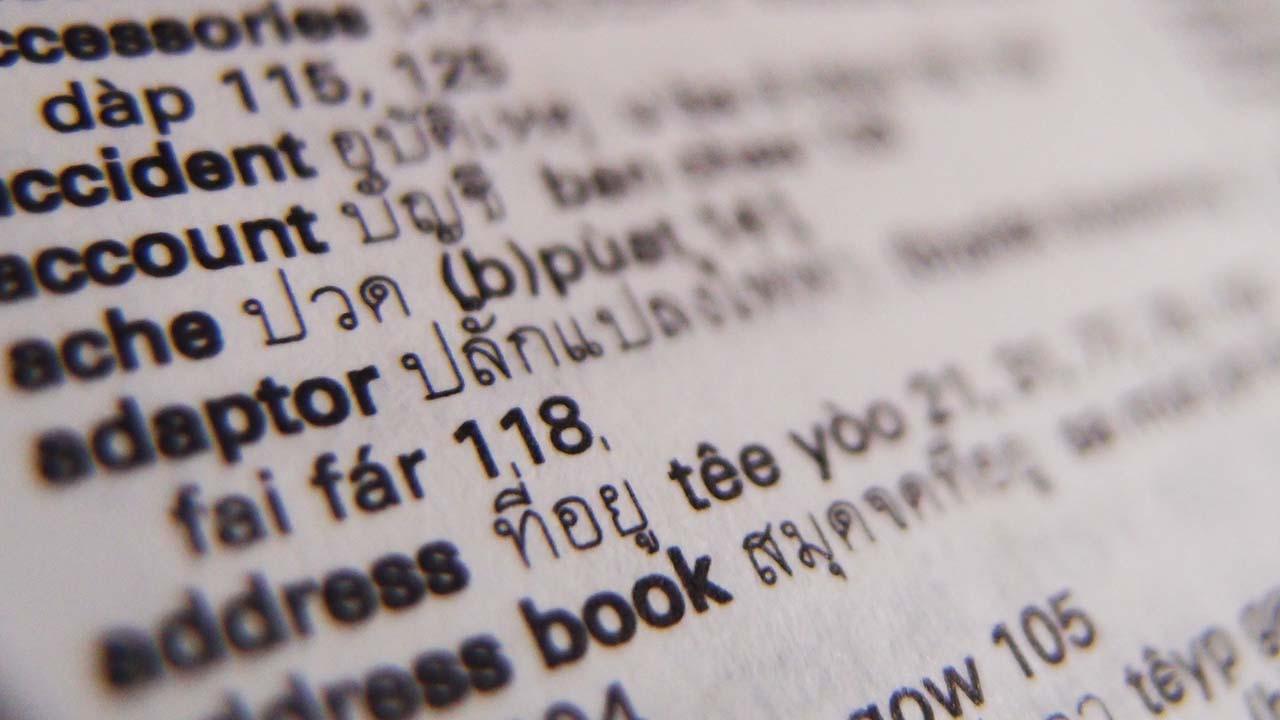 How To Translate Thai Writing English