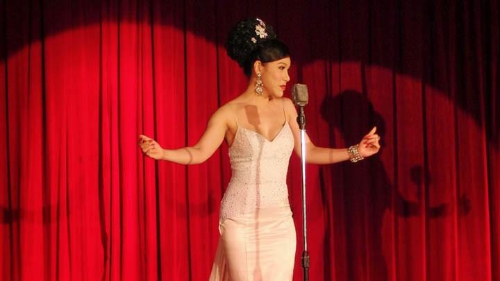 A ladyboy performer in Calypso Cabaret